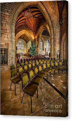 Cathedral Christmas Canvas Print by Adrian Evans