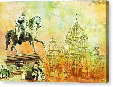 Cathedral De Berlin Canvas Print by Catf