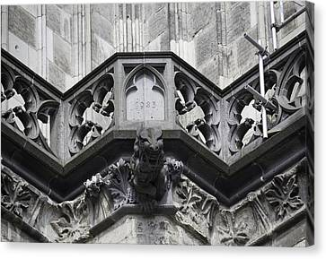 Cathedral Gargoyle 03 Canvas Print by Teresa Mucha