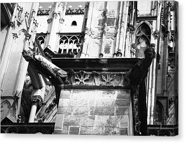 Cathedral Gargoyle 05 Canvas Print by Teresa Mucha