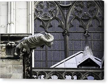Cathedral Gargoyle 11 Canvas Print by Teresa Mucha