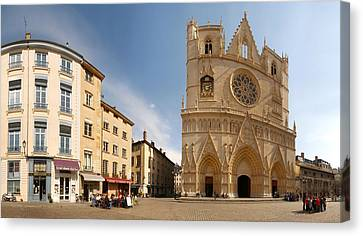 Cathedral In A City, St. Jean Canvas Print by Panoramic Images