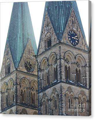 Cathedral In Bremen Canvas Print
