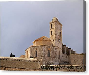 Cathedral In Ibiza Town Canvas Print