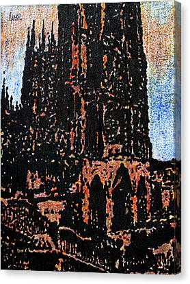 Cathedral In Spring Canvas Print by Oscar Penalber