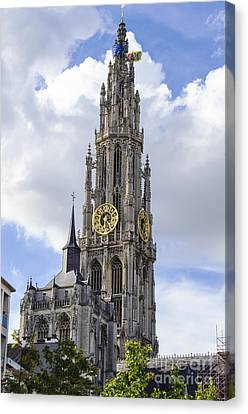 Cathedral In The Sky Canvas Print by Pravine Chester