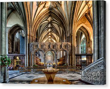 Cathedral Interior Canvas Print by Adrian Evans