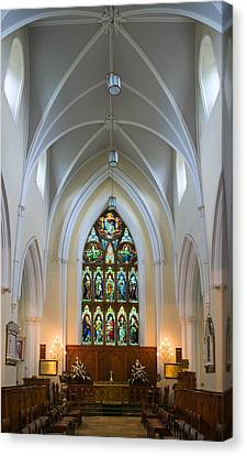 Cathedral Interior Canvas Print by Jane McIlroy