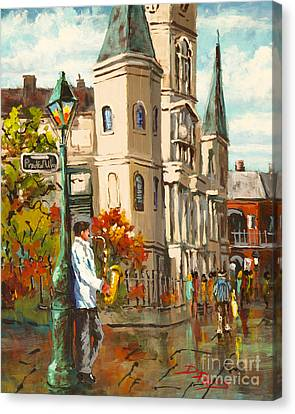 Canvas Print featuring the painting Cathedral Jazz by Dianne Parks