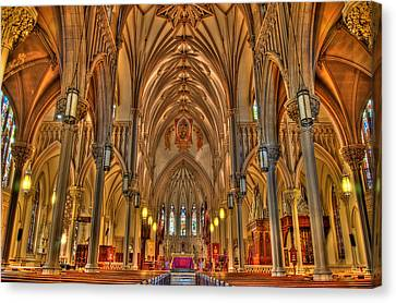 Cathedral Canvas Print by Joseph Nuzzo