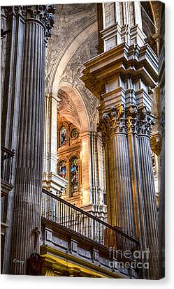 Cathedral Malaga Spain Canvas Print by Rene Triay Photography