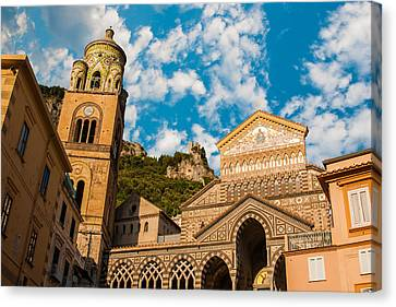 Cathedral Of Amalfi Canvas Print by Gurgen Bakhshetsyan