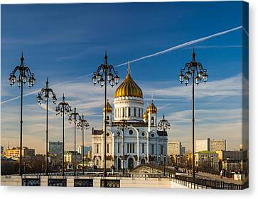 Cathedral Of Christ The Savior 3 - Featured 3 Canvas Print by Alexander Senin