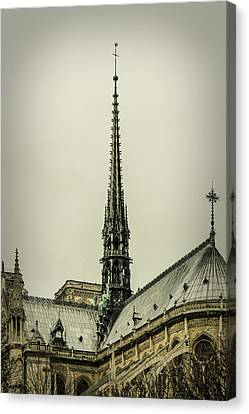 Cathedral Of Notre Dame De Paris II Canvas Print by Marco Oliveira