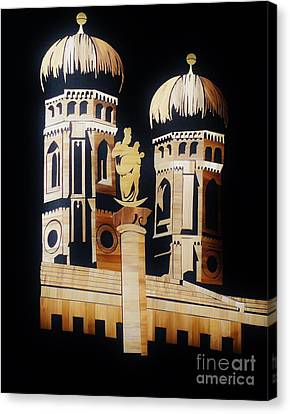 Cathedral In Munich Canvas Print by Straw Art