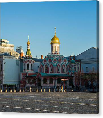 Cathedral Of Our Lady Of Kazan - Square Canvas Print by Alexander Senin