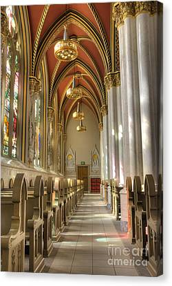Cathedral Of Saint Helena Canvas Print by Juli Scalzi