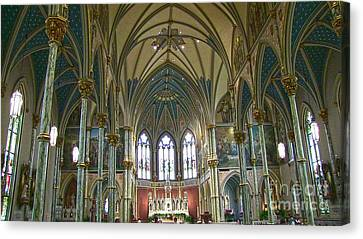 Cathedral Of Saint John The Baptist Canvas Print by D Wallace
