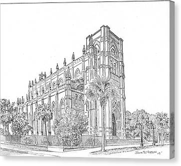Cathedral Of Saint John The Baptist  Canvas Print by John Hopson