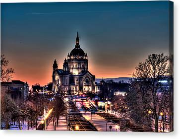 Cathedral Of Saint Paul Canvas Print by Amanda Stadther