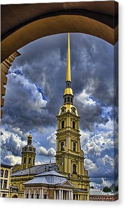 Cathedral Of Saints Peter And Paul - St. Petersburg Russia Canvas Print by Jon Berghoff
