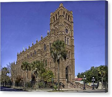 Cathedral Of St. John The Baptist Charleston Canvas Print by Lynn Palmer