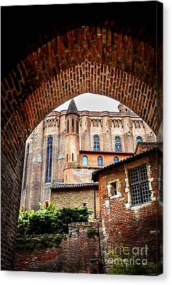 Cathedral Of Ste-cecile In Albi France Canvas Print