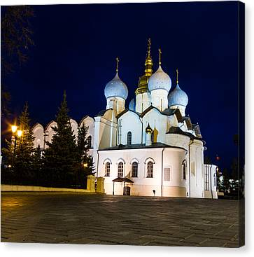 Cathedral Of The Annunciation At Kazan Kremlin Canvas Print by Alexey Stiop