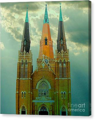 Cathedral Of The Holy Family  Canvas Print by Janette Boyd