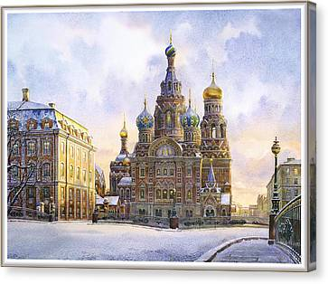 Cathedral Of The Resurrection Of Christ Canvas Print by Andrey Kozlov