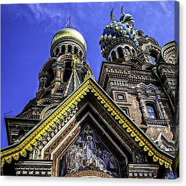 Cathedral Of The Resurrection - St. Petersburg - Russia Canvas Print by Madeline Ellis