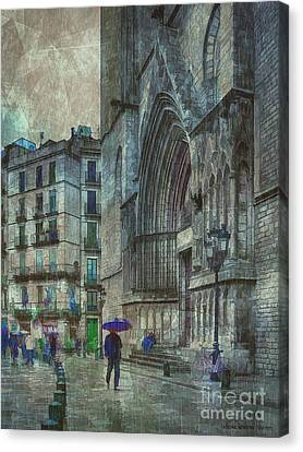 Cathedral Of The Sea Canvas Print by Pedro L Gili