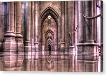 Cathedral Reflections Canvas Print by Shelley Neff