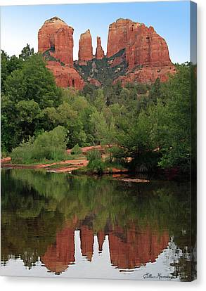 Cathedral Rock 1 Canvas Print by Ellen Henneke