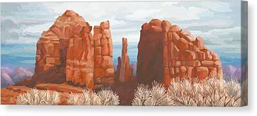 Cathedral Rock In Winter Canvas Print