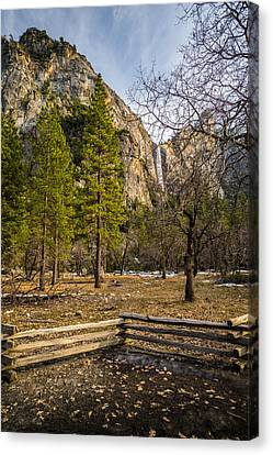 Cathedral Rock And Bridalveil Falls Canvas Print