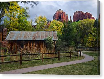 Cathedral Rock Buildings Near Sedona Canvas Print