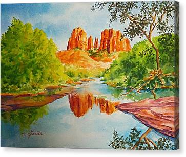Cathedral Rock  Canvas Print by Gracia  Molloy