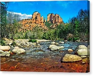 Cathedral Rock In Spring Canvas Print