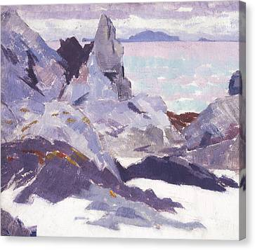 Cathedral Rock  Iona Canvas Print by Francis Campbell Boileau Cadell