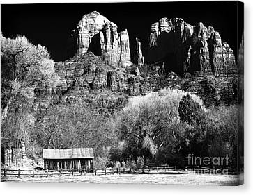Cathedral Rock Canvas Print by John Rizzuto