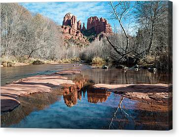 Cathedral Rock Reflection  Sedona Canvas Print