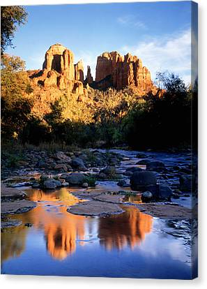 Oak Creek Canvas Print - Cathedral Rock Sedona Az Usa by Panoramic Images