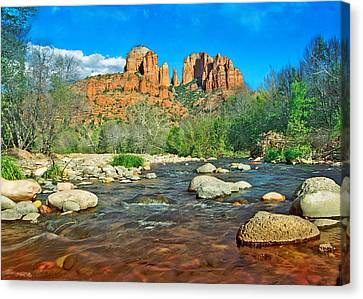Cathedral Rock Sedona Canvas Print by Steven Barrows