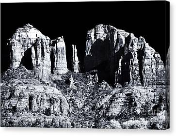 Cathedral Rock Shadows Canvas Print