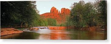 Cathedral Rocks In Coconino National Canvas Print by Panoramic Images