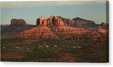 Canvas Print featuring the photograph Cathedral Rocks In Sedona by Alan Vance Ley