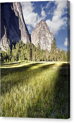 Cathedral Rocks In Yosemite Valley Canvas Print by Chris Frost