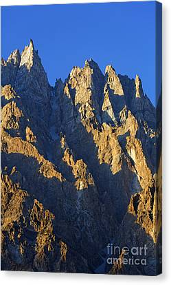 Cathedral Spires Mountain Peaks Karakorum Canvas Print by Robert Preston