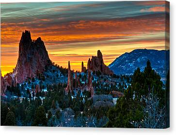 Cathedral Sunrise Canvas Print by Mike Berenson